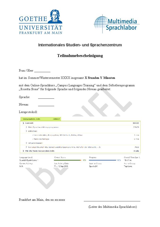 studienbescheinigung uni frankfurt
